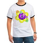 Peace Blossoms /purple Ringer T