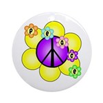 Peace Blossoms /purple Ornament (Round)