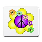 Peace Blossoms /purple Mousepad