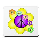 Peace Blossoms /purple Mousepad