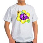 Peace Blossoms /purple Light T-Shirt