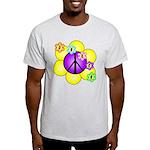 Peace Blossoms /purple Light T-Shirt