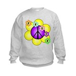 Peace Blossoms /purple Kids Sweatshirt
