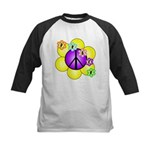 Peace Blossoms /purple Kids Baseball Jersey