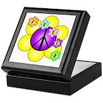 Peace Blossoms /purple Keepsake Box