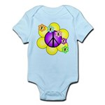 Peace Blossoms /purple Infant Bodysuit