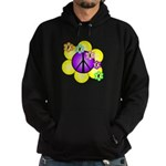 Peace Blossoms /purple Hoodie (dark)
