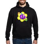 Peace Blossoms /purple Hoodie (dark)