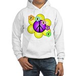 Peace Blossoms /purple Hooded Sweatshirt
