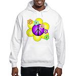 Peace Blossoms /purple Hooded Sweatshirt