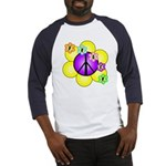 Peace Blossoms /purple Baseball Jersey
