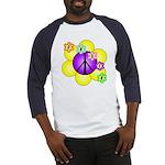 Peace Blossoms /purple Baseball Jersey