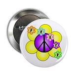 "Peace Blossoms /purple 2.25"" Button"