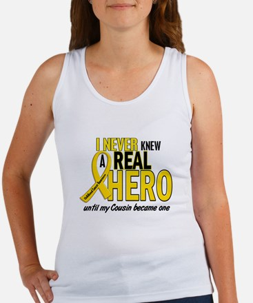 Never Knew A Hero 2 GOLD (Cousin) Women's Tank Top