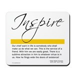 Emerson Quote: Inspiration Mousepad