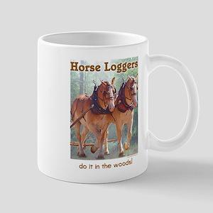 Belgian Horse Logging Mug