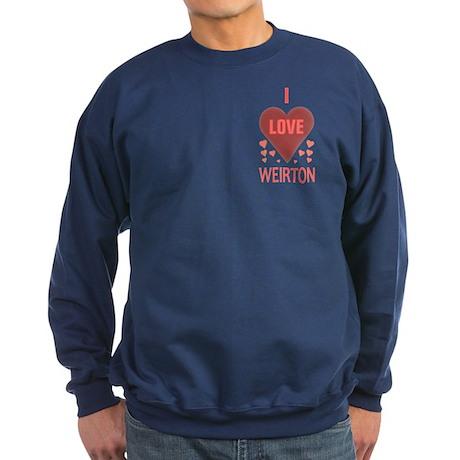 I Love Weirton Sweatshirt (dark)