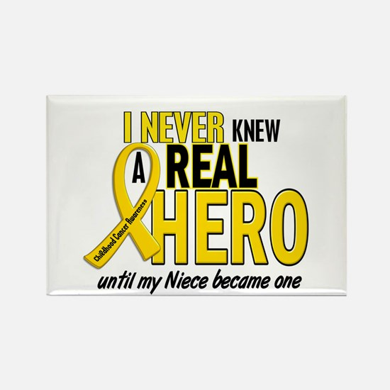Never Knew A Hero 2 GOLD (Niece) Rectangle Magnet