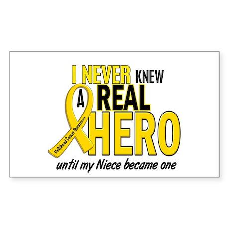Never Knew A Hero 2 GOLD (Niece) Sticker (Rectangl