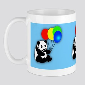 Pandas and balloons childrens mug