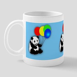 Pandas and balloons childrens mug