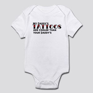 Daddy's Tattoos (Red) Infant Bodysuit
