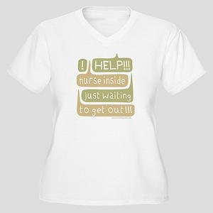 Nurse Inside Women's Plus Size V-Neck T-Shirt