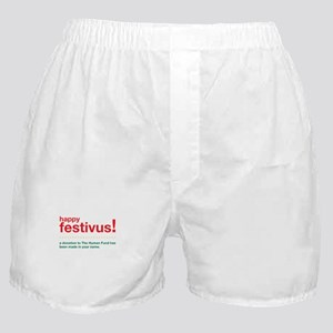 happy FESTIVUS™ fund Boxer Shorts