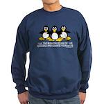 Burning Stare Penguins Sweatshirt (dark)