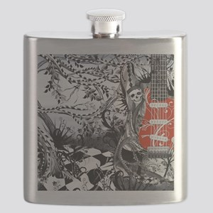 Electric Guitar, Musician, Rock Band Music S Flask