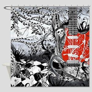 Electric Guitar, Musician, Rock Ban Shower Curtain