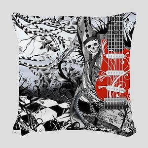 Electric Guitar, Musician, Roc Woven Throw Pillow