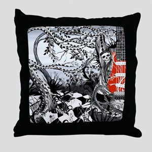 Electric Guitar, Musician, Rock Band Throw Pillow