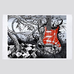 Electric Guitar, Musician, Rock Band M 4' x 6' Rug