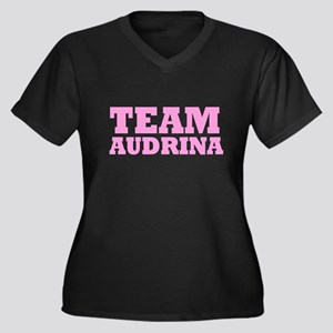 Team Audrina Women's Plus Size V-Neck Dark T-Shirt