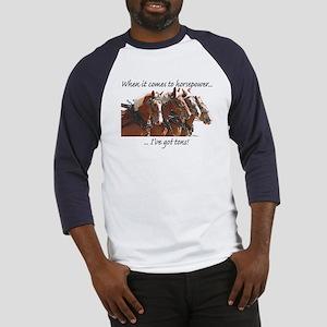 """Tons"" of Horse Power Baseball Jersey"