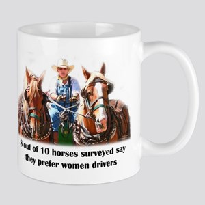 Women Drivers Draft Horse Mug