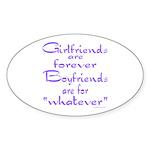 GIRLFRIENDS Oval Sticker (10 pk)