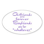 GIRLFRIENDS Oval Sticker (50 pk)