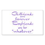 GIRLFRIENDS Rectangle Sticker 10 pk)
