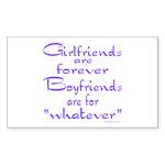 GIRLFRIENDS Rectangle Sticker 50 pk)