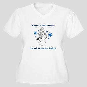 Costumer Sewing Women's Plus Size V-Neck T-Shirt