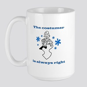 Costumer Sewing Large Mug