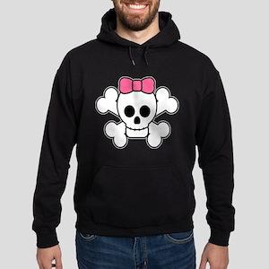 Girly Skull Hoodie (dark)