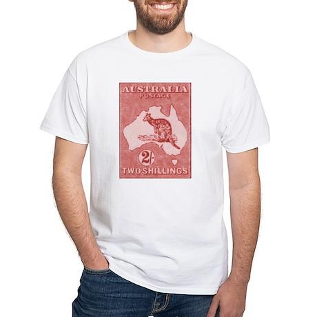Kangeroo and Map 2s White T-Shirt
