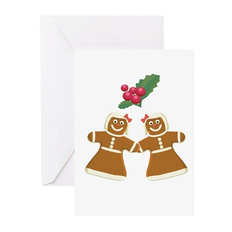 Gingerbread Women Greeting Cards (Pk of 10)