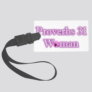 Proverbs 31 Woman Large Luggage Tag