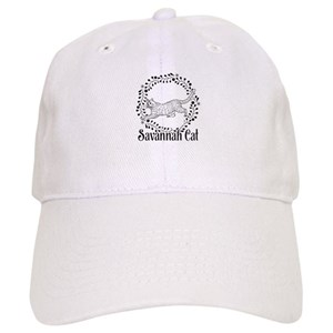 01ac9f271da Savannah Cat Baseball Hats - CafePress