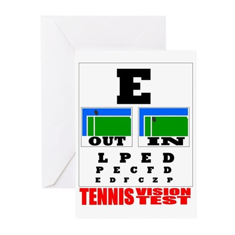 Tennis Vision Test Greeting Cards (Pk of 20)