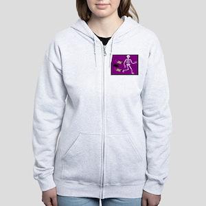 Pug-o-ween Bones Women's Zip Hoodie